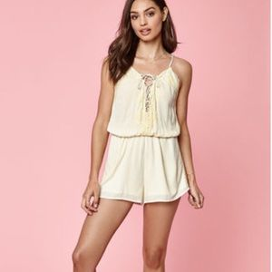 Kendal & Kylie Yellow Lace Romper
